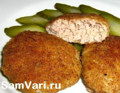 Котлеты мясные без хлеба рецепт